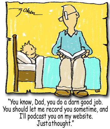 Parents Readingcartoon