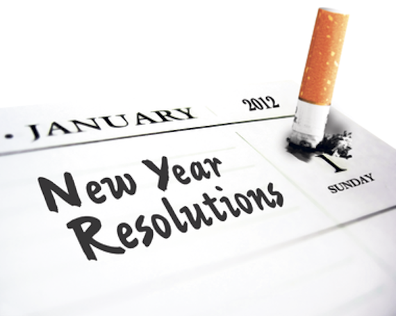 new years resolution vs. goal